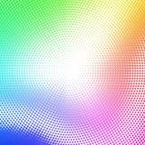 Samenvatting gestippelde achtergrond met regenboogkleuren Royalty-vrije Stock Fotografie