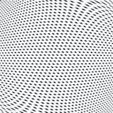 Samenvatting gevoerde achtergrond, optische illusiestijl Chaotische lijnen Stock Foto