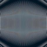 Samenvatting gevoerde achtergrond, optische illusiestijl Chaotische lijnen Royalty-vrije Stock Fotografie