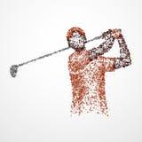 Samenvatting, golfspeler, atleet royalty-vrije illustratie