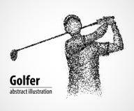 Samenvatting, golfspeler, atleet stock illustratie
