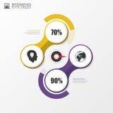 Samenvatting infographic met wijzer Modern vectorontwerpmalplaatje Vector Stock Fotografie