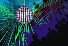 Samenvatting; kunst; achtergrond; muziek; DJ; silhouet Stock Foto