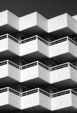 Samenvatting met balkons Royalty-vrije Stock Fotografie