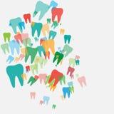 Samenvatting met gekleurde tanden Stock Fotografie