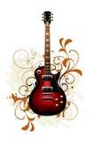 Samenvatting met gitaar Stock Afbeelding