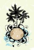 Samenvatting met palmen Stock Foto