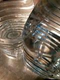 Samenvatting met twee gebotteld water Stock Afbeelding