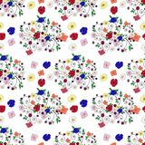 Samenvatting naadloos met bloem Stock Afbeeldingen