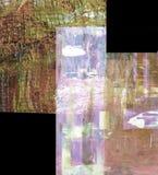 Samenvatting op glas Stock Afbeeldingen