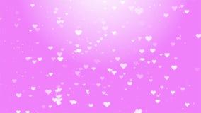 Samenvatting op Hart die Roze hartenstijging op een donkere motieachtergrond vliegen stock illustratie