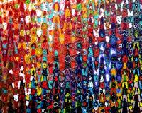 Samenvatting schilderen-Acryl bij canvas het schilderen Stock Fotografie