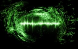 Samenvatting soundwave met rookvormen royalty-vrije stock afbeeldingen