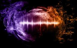 Samenvatting soundwave met rookvormen royalty-vrije stock foto's