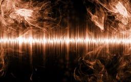 Samenvatting soundwave met rookvormen Stock Afbeeldingen