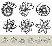 Samenvatting spiraalvormig, wervelingselement Geometrische spiralen Verdraaide sha vector illustratie