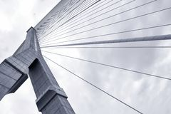 Samenvatting structureel van brug Royalty-vrije Stock Foto