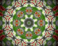 Samenvatting uitgedreven mandala 3D illustratie royalty-vrije illustratie