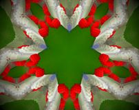 Samenvatting uitgedreven mandala 3D illustratie stock illustratie