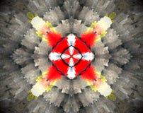 Samenvatting uitgedreven mandala 3D illustratie vector illustratie