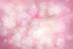Samenvatting vage kleur en bokeh achtergrond, roze en wit Stock Afbeelding