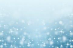Samenvatting vage sneeuw bokeh achtergrond Stock Afbeeldingen