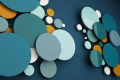 Samenvatting van de achtergrond van de kleurencirkel Stock Foto