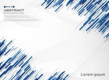 Samenvatting van de blauwe achtergrond van de de lijntechnologie van de kleurenstreep stock illustratie