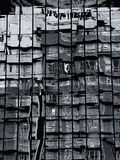 Samenvatting van de bouw van de glasbezinning Royalty-vrije Stock Foto's