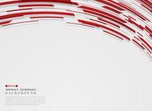 Samenvatting van van de geavanceerd technische van de streeplijnen motiegradiënt rode het patroonachtergrond stock illustratie