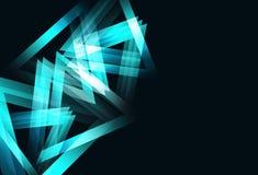 Samenvatting van de het concepten de geometrische futuristische technologie van de driehoekenketting royalty-vrije illustratie