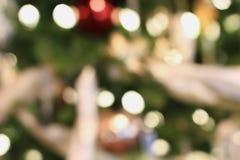 Samenvatting van de Lichten van Kerstboombokeh stock foto