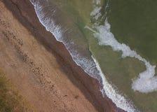 Samenvatting van de Oostzeekust die wordt geschoten Stock Afbeelding
