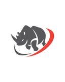 Samenvatting van de rinoceros de abstracte vectorzakelijke verzekering royalty-vrije stock fotografie