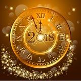 Samenvatting van Gelukkig Nieuwjaar 2018 Vector en Illustratie, EPS 10 Royalty-vrije Stock Afbeelding
