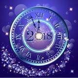 Samenvatting van Gelukkig Nieuwjaar 2018 Vector en Illustratie, EPS 10 Stock Afbeelding