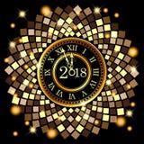 Samenvatting van Gelukkig Nieuwjaar 2018 Vector en Illustratie, EPS 10 Stock Foto's