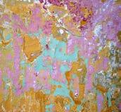 Samenvatting van geschilderde muur Stock Foto
