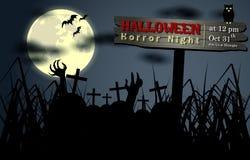 Samenvatting van Halloween-Nacht Stock Foto's