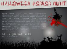 Samenvatting van Halloween-Nacht Royalty-vrije Stock Foto