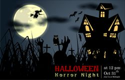 Samenvatting van Halloween-Nacht Stock Foto