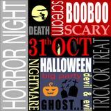Samenvatting van Halloween-Nacht Royalty-vrije Stock Fotografie