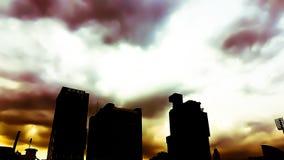 Samenvatting van hemel bewolkt onder het zonlicht in de avond met t Stock Foto