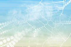 Samenvatting van het Netwerk van de technologie de Industriële stock illustratie