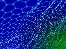 Samenvatting van hexagon achtergrond van de kleurenoppervlakte Technologieconce Royalty-vrije Stock Afbeeldingen
