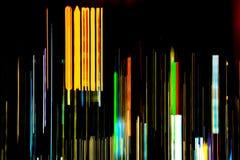 Samenvatting van multicolored stadslichtstralen in motie, Bewegend col. royalty-vrije stock afbeelding