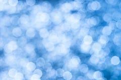 Samenvatting van nadruk of bokeh achtergrondblauw Royalty-vrije Stock Foto
