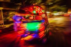 Samenvatting van Thaise taxi in Bangkok wordt geschoten dat Stock Afbeelding