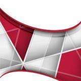 Samenvatting vervormd van bedrijfs vorm geometrisch rood en wit elementen ontwerp Stock Foto's