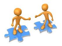 Samenwerking royalty-vrije illustratie